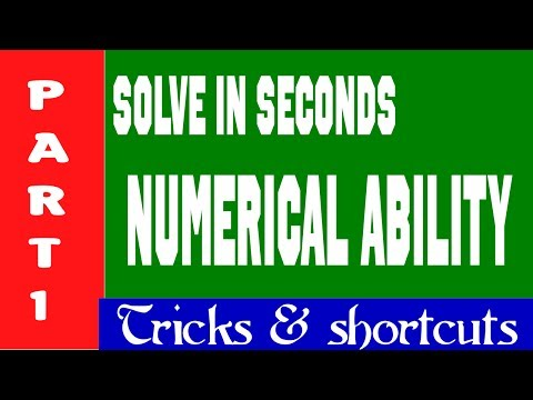 Numerical Ability | tricks and shortcuts to solve quickly. | SBI PO | IBPS