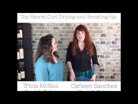 Curly Hair tips- Plopping with a Jac-O-Net