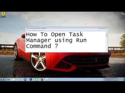 How to open Task manager Using run command