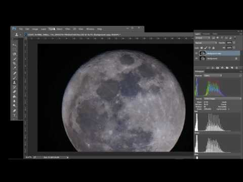 Processing a Moon Image for color and Brightness in Photoshop