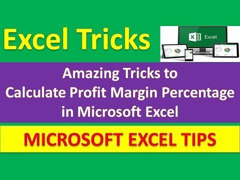 Amazing Tricks to Calculate Profit Margin Percentage in Microsoft Excel | Urdu / Hindi