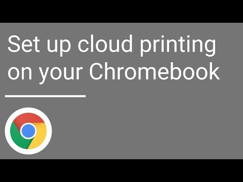 Set up cloud printing on your Chromebook