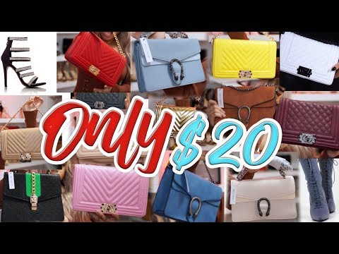 😍HUGE PURSE & HEELS HAUL *$20 EACH* | CHANEL & GUCCI DUPES // CHEAP AND AFFORDABLE