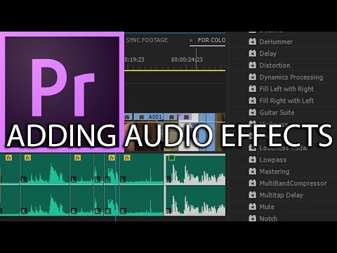 E26 - Adding and Manipulating Audio Effects - Adobe Premiere Pro CC 2017