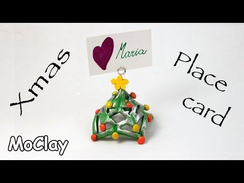DIY Christmas Place card - Polymer clay tutorial