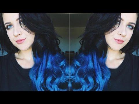 Tutorial of Dark to Blue Ombré Hair Extensions ft VPFASHION---alexasunshine83