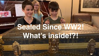 Sealed Since WW2! time capsule mystery trunk! what