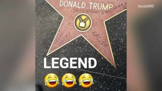People keep vandalizing Donald Trump
