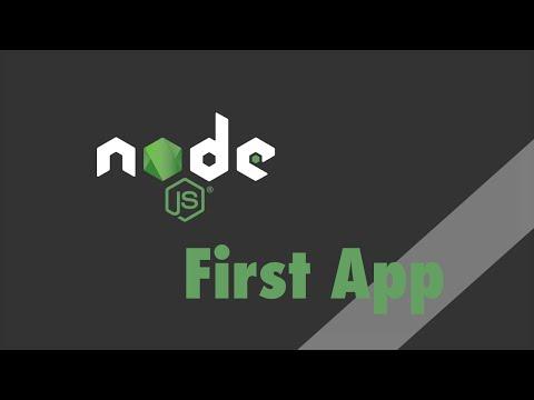 Node.js - Tutorial - First Application
