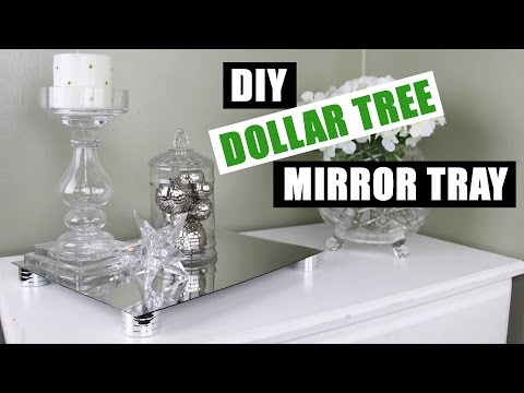 DIY DOLLAR TREE GLAM MIRROR RISER TRAY | Z Gallerie Inspired DIY Mirror Vanity Tray | DIY Room Decor