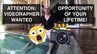 ► Opportunity Of Your Lifetime! - Travel The World & Shoot Vlogs As Gun Hudson