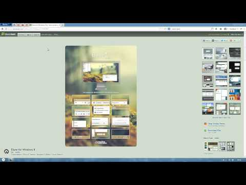 How to install a Windows 8 custom theme and start orb