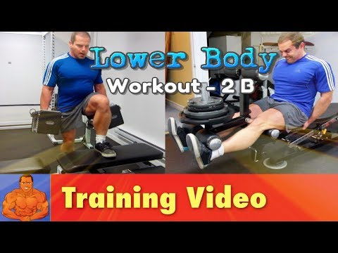 Leg Workout Without Squats - 2B - quadriceps, hamstrings, and calves