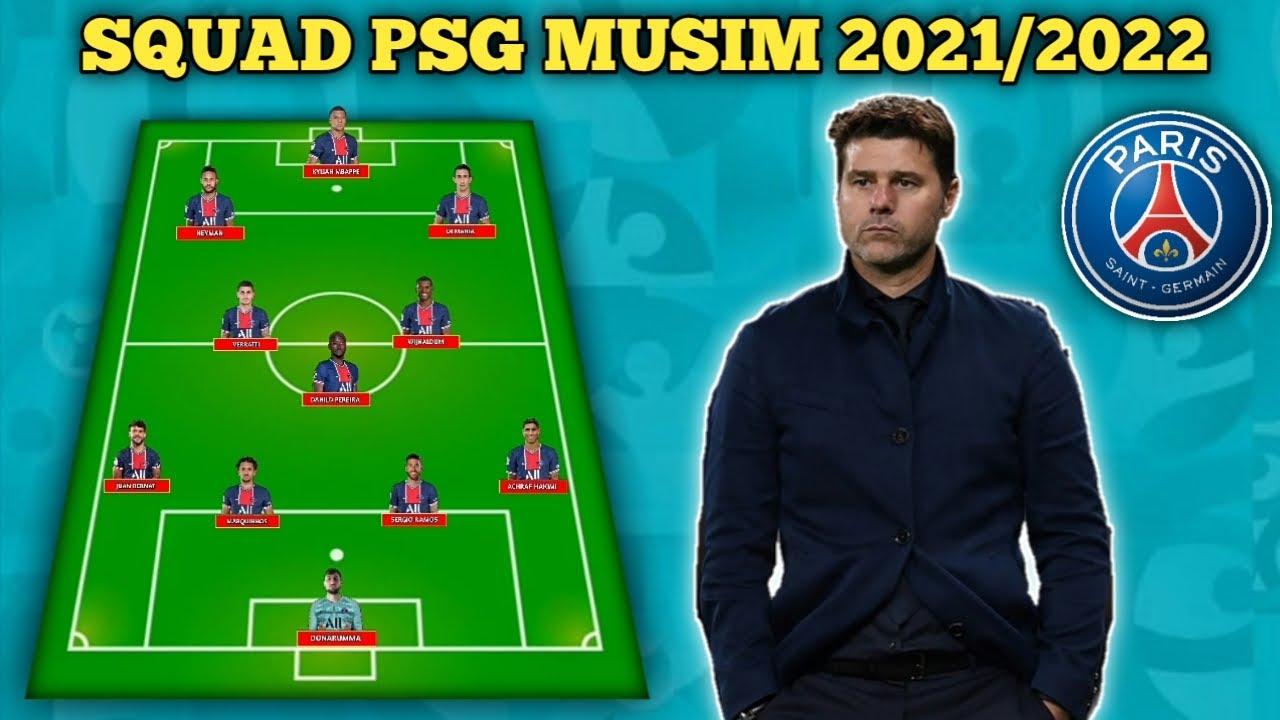Squad PSG Musim 2021/2022 | Starting line up PSG Musim Depan