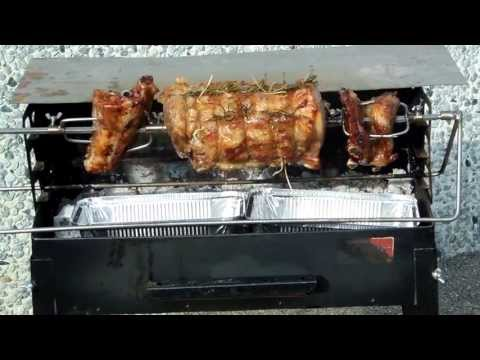 Electric rotisserie for Barbecue and wood fired oven
