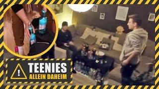 Regelverstoß! Hausparty mit Alkohol bei den Minderjährigen! | Teenies allein daheim | Kabel Eins