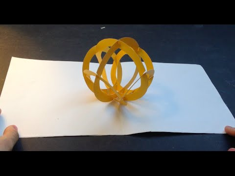 Super Easy Way To Make An 3D Ball Kirigami Pop Up Paper Tutorial   Free Pattern