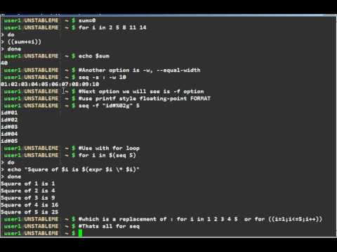 UNIX/Linux seq command tutorial
