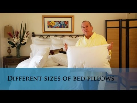 Different size bed pillows. (www.verolinens.com)