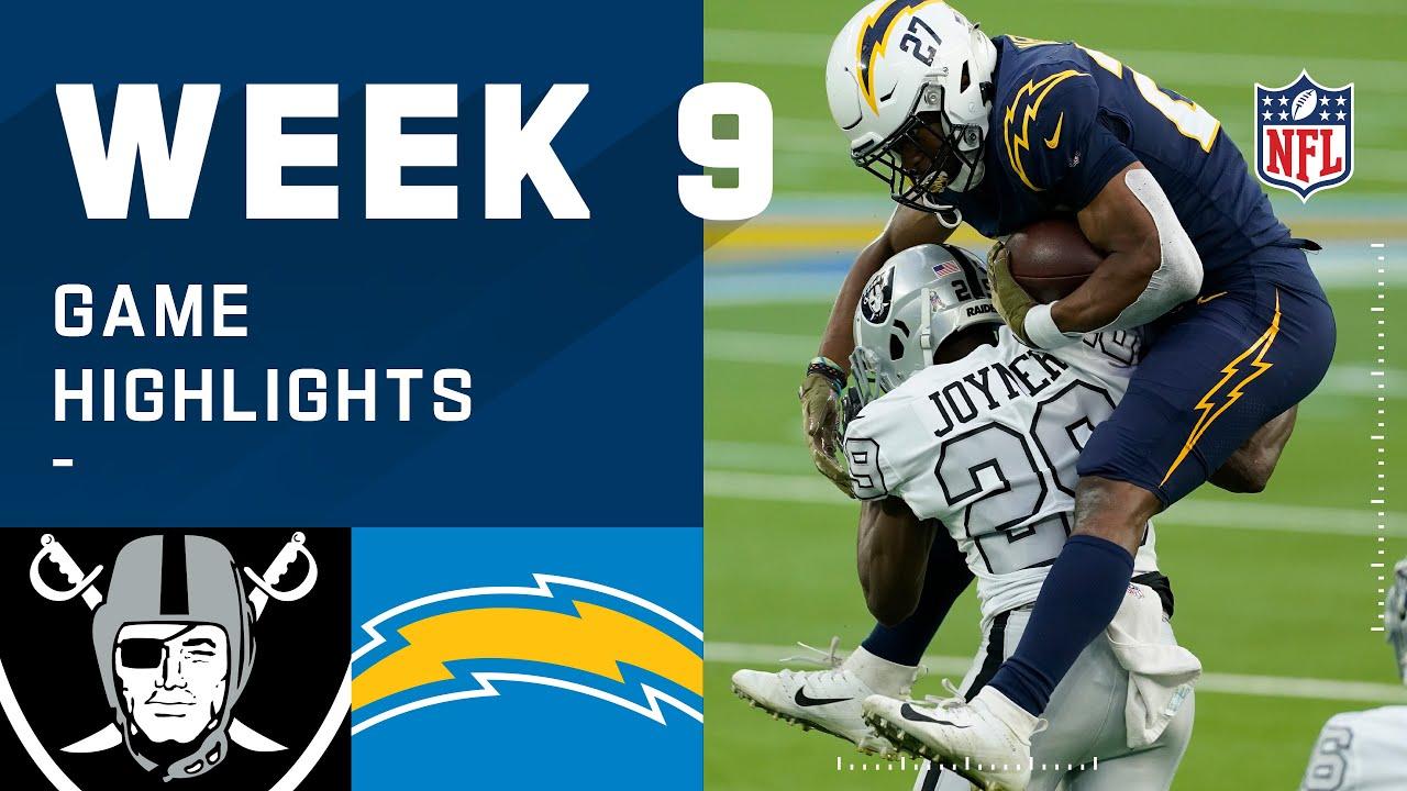 Raiders vs. Chargers Week 9 Highlights | NFL 2020