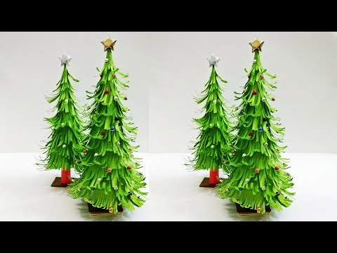 3D Paper Christmas Tree | Christmas Tree Decorations Ideas | Tabletop Christmas tree | Craftastic