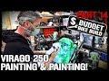 Virago 250 Build - PART 14. Painting Engine & Frame!
