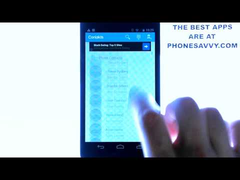 Contakts - Android App Review - Manage Contacts With A New Style