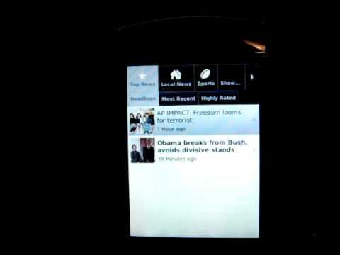 BlackBerry Storm 9530 running leaked beta OS (.90)