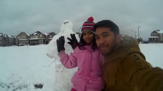 CANADA (Toronto)  DAY 1 - MAKING A SNOW MAN | VLOG 1