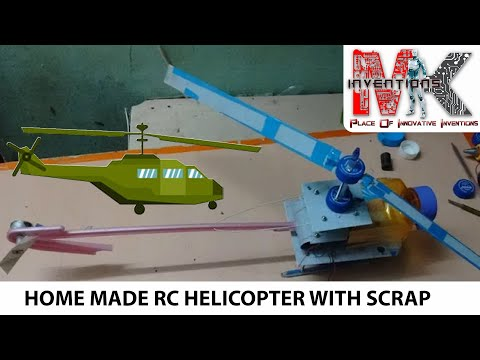 Home made rc helicopter