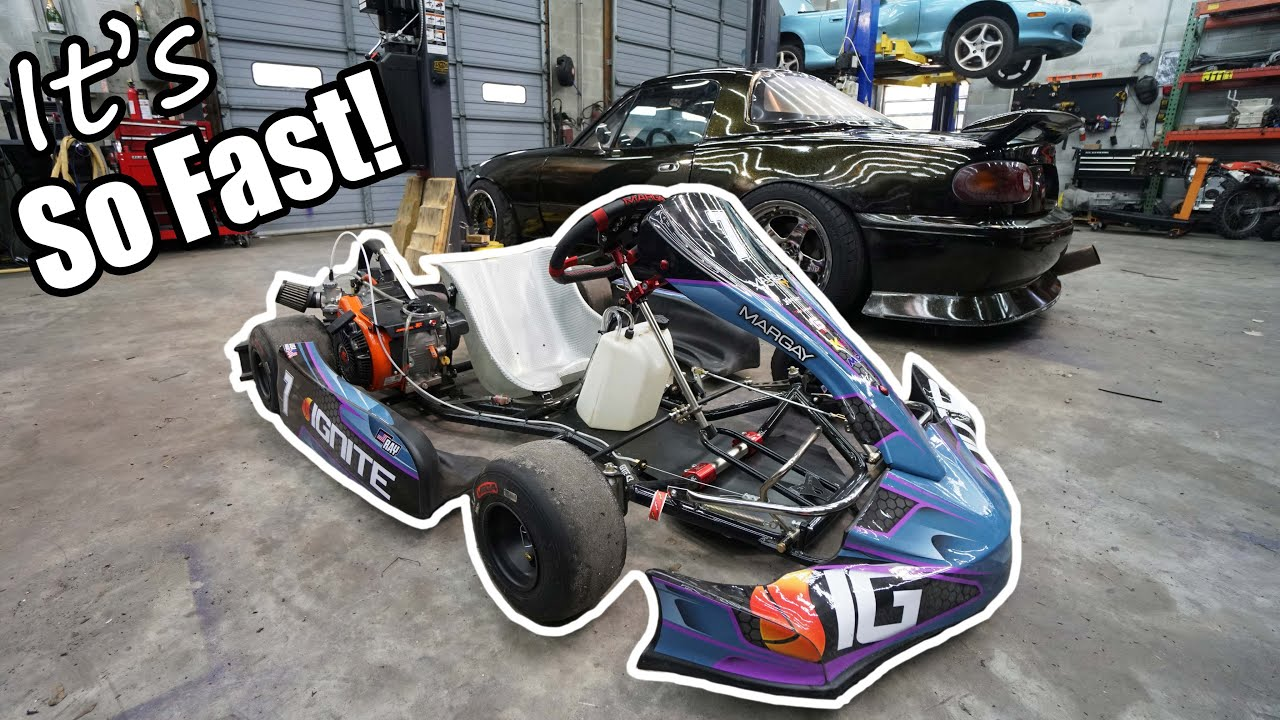Modding My New Go Kart And WRECKING IT At The Track!