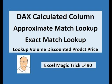 DAX Approximate Match Lookup & Exact Match Lookup Together for Discounted Product Price (EMT 1490)