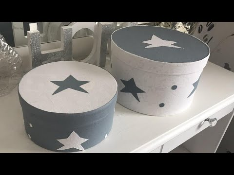 DIYRound Storage Box - Recycling Cardboard - How To Make A toy box - room decor for kids 2017