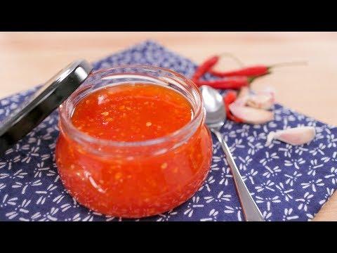 Sweet Chili Sauce Recipe | Thai Recipes นำ้จิ้มไก่