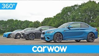 BMW M2 v M4 v M5 30 Jahre v M6 - 360 degree DRAG RACE | Head-to-Head