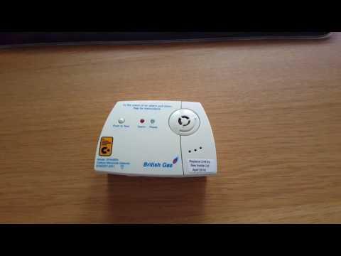 British gas carbon monoxide detector silence