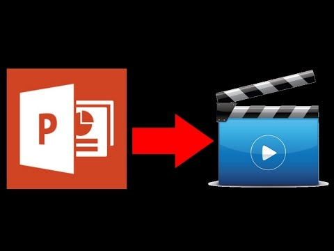 How to Convert Powerpoint Templates to Video MP4 etc