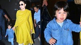 Taimur Ali Khan FUNNY Video Showing Media His Tongue With Mom Kareena Kapoor