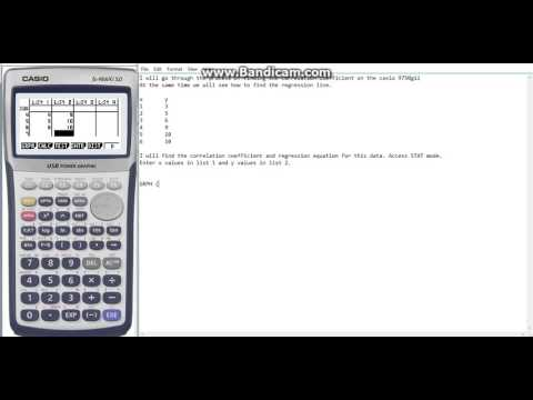 Casio 9750gii Correlation and Regression