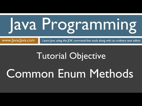 Learn Java Programming - Enum Common Methods Tutorial