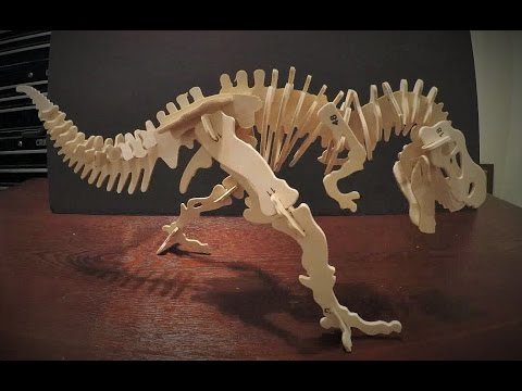 T-rex skeleton build    stop motion