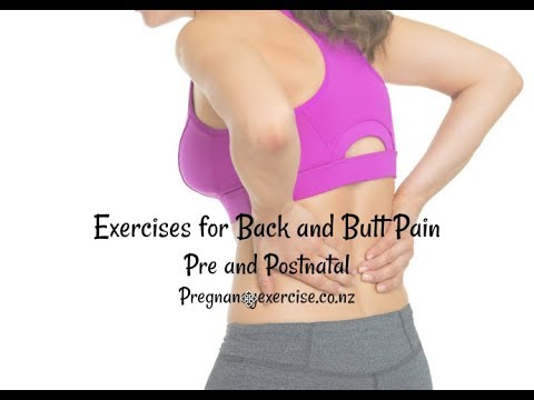 How To EXERCISE if You Have Back & Butt Pain Pre & Postnatal