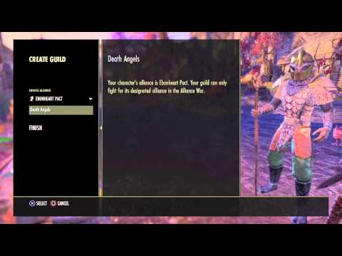 ESO how to create guild on ps4