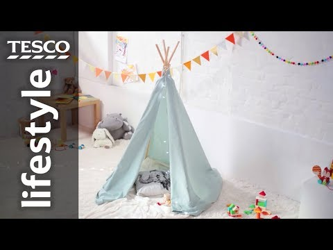 How to make an indoor teepee for kids | Tesco