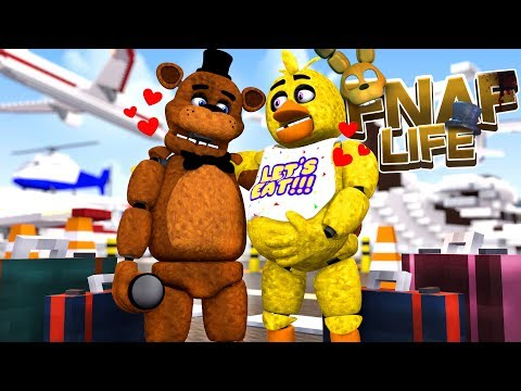 Minecraft FNAF LIFE-PREGNANT CHICA HAS AN ACCIDENT ON THE HONEYMOON!!!- Baby Leah