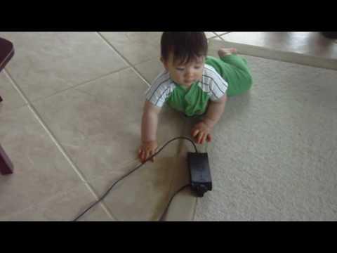 Baby Danny's first crawl forward