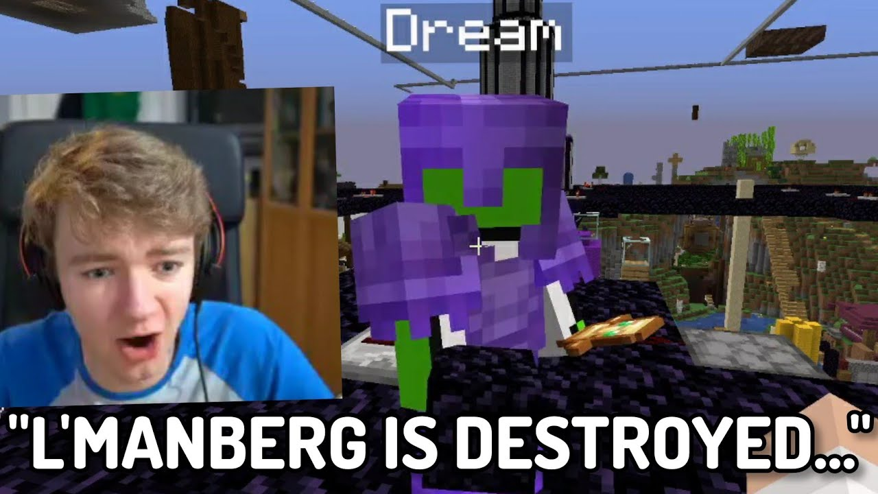 Dream and Technoblade DESTROY L'Manberg... (Dream SMP)