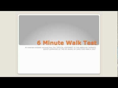 Six Minute Walk Test 2012