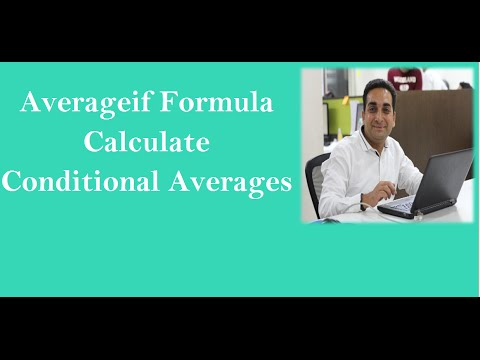 MS Excel : Averageif Formula for Conditional Average Hindi