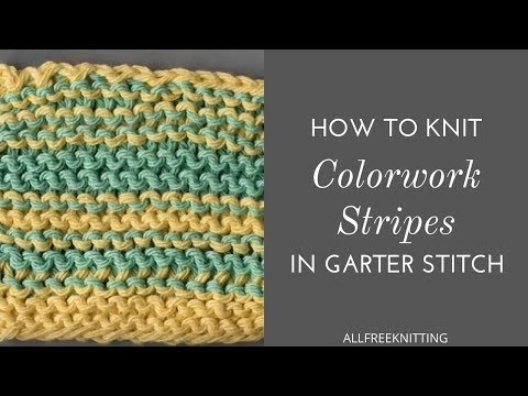 How to Knit Colorwork Stripes in Garter Stitch